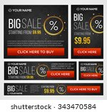big  half price and one day... | Shutterstock .eps vector #343470584