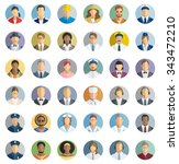 people icon set   different... | Shutterstock .eps vector #343472210