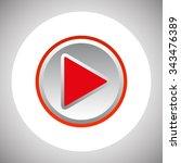 play. icon. vector design | Shutterstock .eps vector #343476389