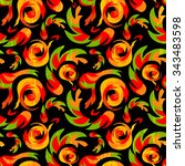 african ethnic seamless pattern ... | Shutterstock .eps vector #343483598