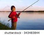 Beautiful Little Girl Fishing...