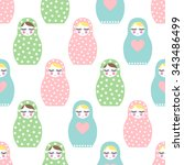 Nested Doll Seamless Pattern....