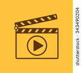 the clapper board icon. play... | Shutterstock .eps vector #343490204