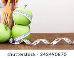 The Green Apple With Measuring...