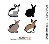 rabbit icon.rabbit.vector... | Shutterstock .eps vector #343494926