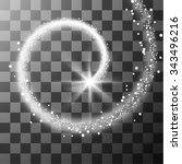 transparent white star trail...   Shutterstock .eps vector #343496216