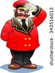 doorman in a red suit | Shutterstock .eps vector #343516013