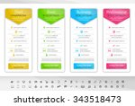 light pricing table with 4... | Shutterstock .eps vector #343518473