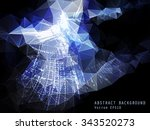 abstract vector background.... | Shutterstock .eps vector #343520273