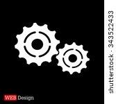 vector cog settings icon symbol   Shutterstock .eps vector #343522433