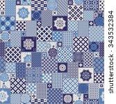 vector seamless patchwork... | Shutterstock .eps vector #343532384