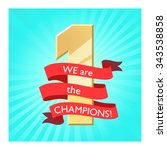 winner label. ribbon banner.... | Shutterstock .eps vector #343538858
