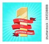 winner label. ribbon banner.... | Shutterstock .eps vector #343538888