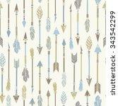 tribal indian seamless set of... | Shutterstock .eps vector #343542299