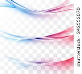 bright red to blue gradient... | Shutterstock .eps vector #343552070