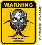 warning  radiation risk   Shutterstock .eps vector #343553354