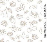 illustration outline hand... | Shutterstock . vector #343555526