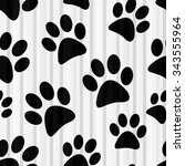 animal footprint seamless... | Shutterstock .eps vector #343555964