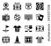 vector football icon set on... | Shutterstock .eps vector #343557338