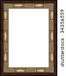 a picture frame on a white | Shutterstock . vector #34356559
