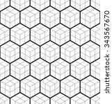 cubic seamless pattern.... | Shutterstock .eps vector #343567670