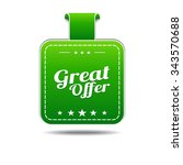 great offer green vector icon...   Shutterstock .eps vector #343570688