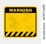warning  sign | Shutterstock .eps vector #343571690