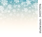 blue background with snowflakes....   Shutterstock . vector #343575596