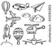 air icon set   Shutterstock .eps vector #343581803