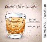 french connection cocktail. it...   Shutterstock . vector #343581818