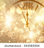 2016 new year shining... | Shutterstock .eps vector #343583504