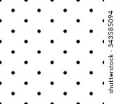 seamless pattern with red polka ... | Shutterstock .eps vector #343585094