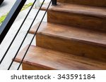 Brown Wooden Staircase With...