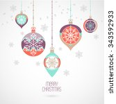christmas and new year... | Shutterstock .eps vector #343592933