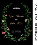 the wreath of wild flowers....   Shutterstock .eps vector #343597970