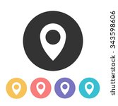 map pointer icon. vector... | Shutterstock .eps vector #343598606