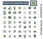 interactive marketing  market... | Shutterstock .eps vector #343605674