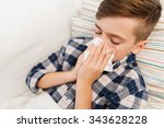 childhood  healthcare  rhinitis ... | Shutterstock . vector #343628228