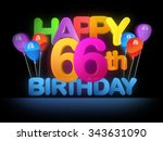 happy 66th title in big letters ... | Shutterstock . vector #343631090