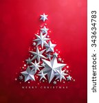 christmas and new years red... | Shutterstock .eps vector #343634783
