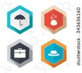 hexagon buttons. clothing... | Shutterstock . vector #343636160