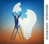 solution. concept business... | Shutterstock . vector #343644386