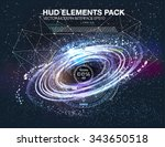 abstrsct space   a black hole.... | Shutterstock .eps vector #343650518