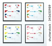 origami label design set 4 style | Shutterstock .eps vector #343650989