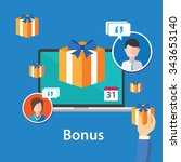 bonus reward ebonus reward... | Shutterstock .eps vector #343653140