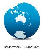 australia and new zealand ... | Shutterstock .eps vector #343656824