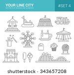 set of vector flat design... | Shutterstock .eps vector #343657208