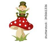 Happy Troll On A Mushroom