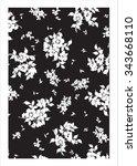 vector pattern silhouette | Shutterstock .eps vector #343668110