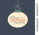 christmas greeting card label.... | Shutterstock .eps vector #343669574